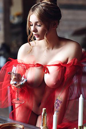 Curvy Blonde Beauty