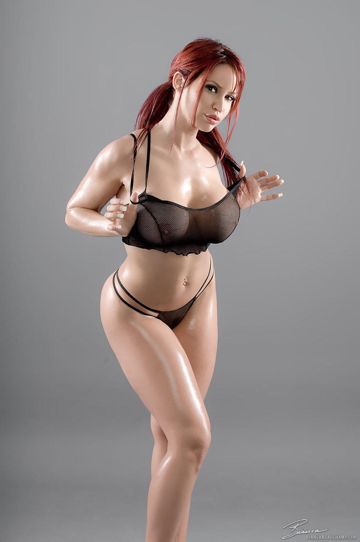Bianca Beauchamp In Hot Redhead In Black Widows Web Via -4861