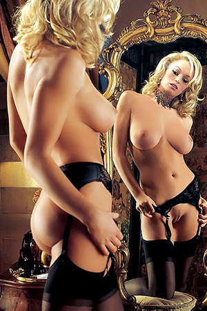 Laurie Jo Fetter in 'Mirror Mirror' via Playboy