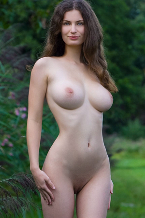 Susann in 'Busty Nymph' via Femjoy
