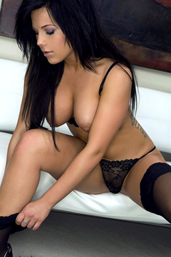 Kellie Smith in 'Black Lingerie' via Playboy
