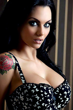 Jessica Jane Clement in 'Glam Rock' via Nuts Magazine