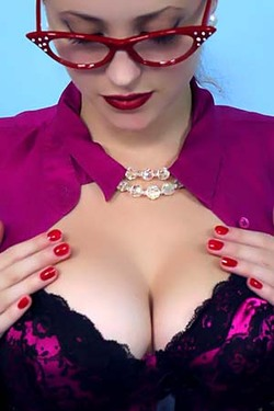 Lucy V in 'Sexy Secretary' via Pinup Wow
