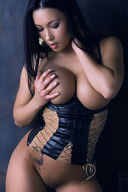 Julri Waters in 'Sexy Corset' via Playboy