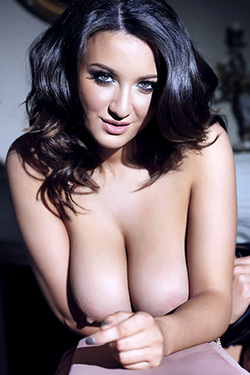 Joey Fisher in 'Best Of Busty Brits' via Nuts Magazine