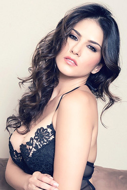 Sunny Leone in 'Lacy Black Dress' via Sunny Leone Official