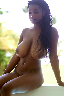 Kiky in 'Ebony Boobs' via Hegre-Art