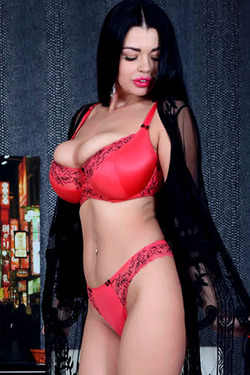 Sha Rizel in 'Red Lingerie' via XX-Cel