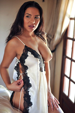 Lacey Banghard in 'Silk Babydoll' via Lacey Banghard Official