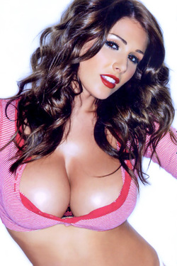 Lucy Pinder in 'Busty Brit Legend' via Nuts Magazine