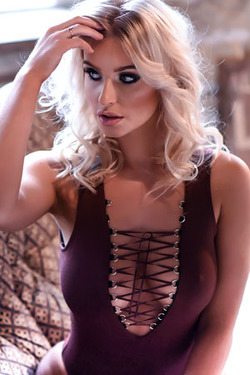 Jess Davies in 'Zigzag Cleavage' via Jess Davies Official
