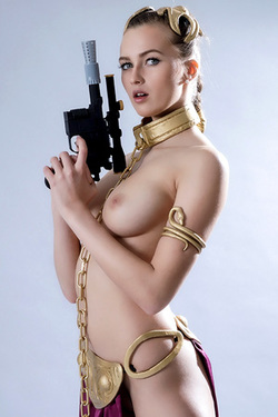 Stasy Cruz in 'Star Wars Leia Cosplay' via VR Cosplay X
