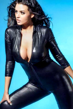 Abigail Ratchford in 'Hot In PVC' via Celeb Matrix